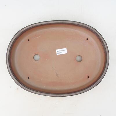 Bonsai miska 34,5 x 25,5 x 7 cm, farba hnedosivá - 3
