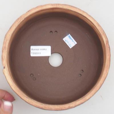 Keramická bonsai miska 17 x 17 x 7 cm, barva praskaná - 3