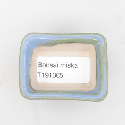 Mini bonsai miska 6 x 4,5 x 2,5 cm, farba modrá - 3