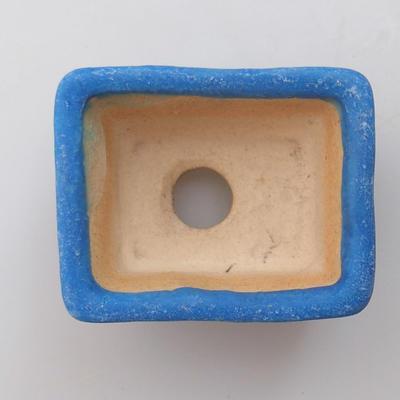 Mini bonsai miska 4,5 x 3,5 x 2,5 cm, farba modrá - 3