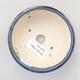 Keramická bonsai miska 10,5 x 10,5 x 4 cm, farba modrá - 3/3