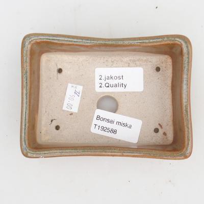 Keramická bonsai miska 2.jakost - 12 x 9 x 3,5 cm, barva šedá - 3