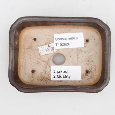 Keramická bonsai miska 2.jakost - 12 x 9 x 3 cm, barva hnědá - 3