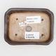 Keramická bonsai miska 2.jakost - 12 x 9 x 3 cm, barva hnědá - 3/4