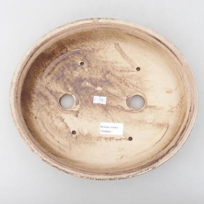 Keramická bonsai miska 28 x 25 x 6 cm, barva hnědá - 3