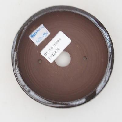 Keramická bonsai miska 11 x 11 x 3,5 cm, barva hnědozelená - 3