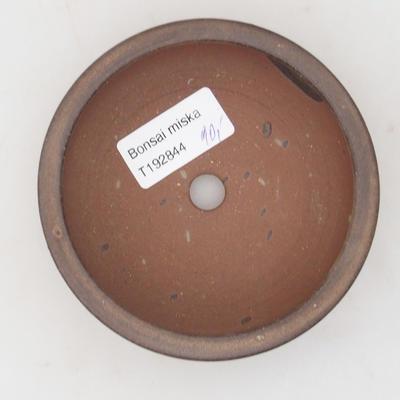Keramická bonsai miska 10 x 10 x 3,5 cm, barva hnědá - 3