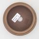 Keramická bonsai miska 11 x 11 x 4 cm, barva hnědá - 3/4