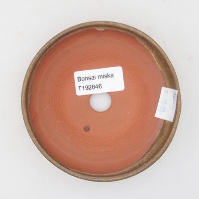 Keramická bonsai miska 11 x 11 x ,3 cm, barva hnědá - 3
