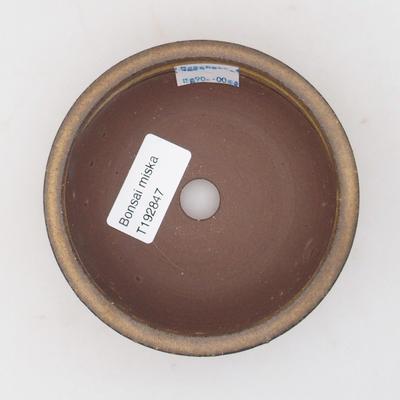 Keramická bonsai miska 10 x 10 x ,3,5 cm, barva hnědá - 3