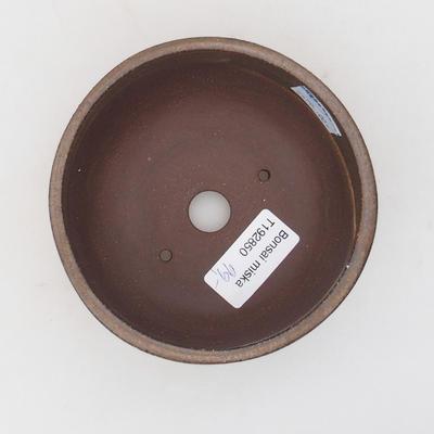 Keramická bonsai miska 11 x 11 x ,6 cm, barva hnědá - 3