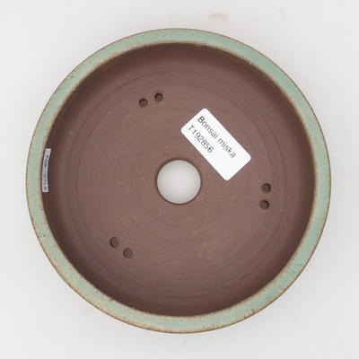 Keramická bonsai miska 15 x 15 x 4 cm, barva hnědozelená - 3