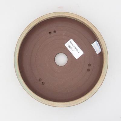 Keramická bonsai miska 17 x 17 x 4,5 cm, barva hnědozelená - 3