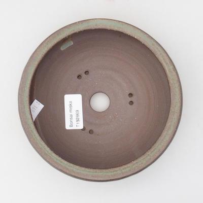 Keramická bonsai miska 16 x 16 x 4,5 cm, barva hnědozelená - 3