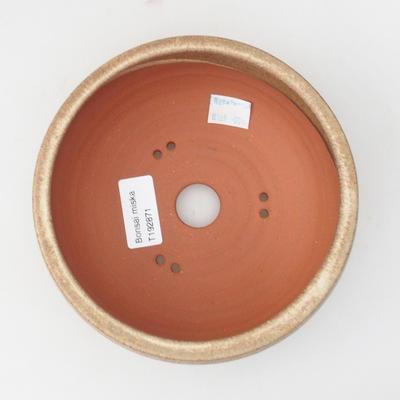 Keramická bonsai miska 15 x 15 x 6,5 cm, barva béžová - 3
