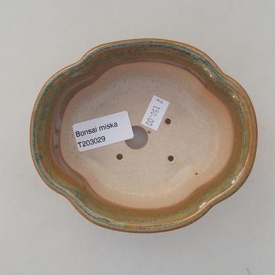 Keramická bonsai miska 13 x 11 x 5 cm, farba hnedá - 3