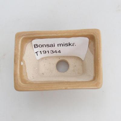 Mini bonsai miska 5,5 x 3,5 x 3 cm, farba hnedá - 3