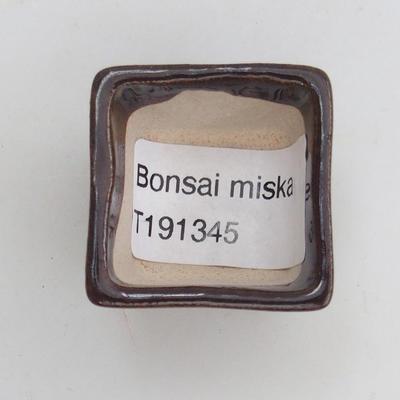 Mini bonsai miska 3,5 x 3,5 x 2,5 cm, farba hnedá - 3