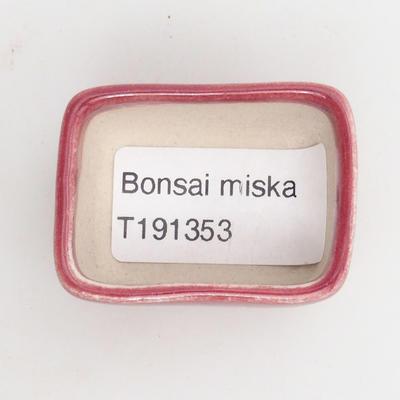 Mini bonsai miska 4,5 x 3 x 2 cm, farba červená - 3