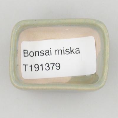 Mini bonsai miska 4,5 x 3 x 2 cm, farba modrá - 3