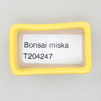 Mini bonsai miska 4,5 x 2,5 x 1,5 cm, barva žlutá - 3
