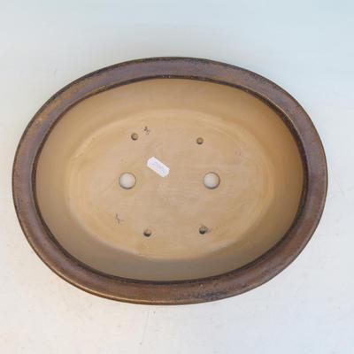 Keramická bonsai miska CEJ 56, světle hnědá - 3