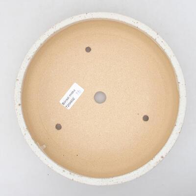 Keramická bonsai miska 22,5 x 22,5 x 6 cm, barva béžová - 3