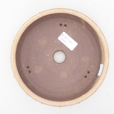 Keramická bonsai miska 17 x 17 x 4,5 cm, barva béžová - 3