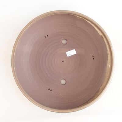 Keramická bonsai miska 37,5 x 37,5 x 9 cm, barva hnědá - 3