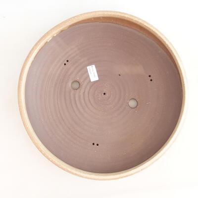 Keramická bonsai miska 37,5 x 37,5 x 9 cm, barva béžová - 3