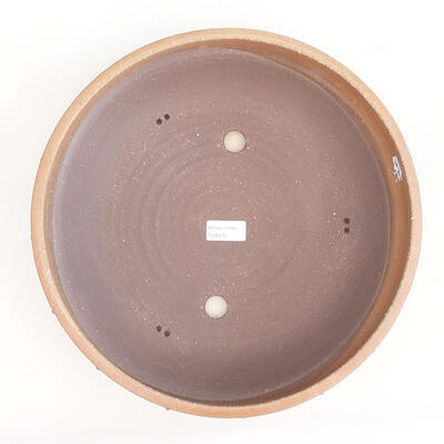 Keramická bonsai miska 33,5 x 33,5 x 8 cm, barva béžová - 3