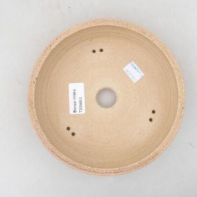 Keramická bonsai miska 21 x 21 x 6 cm, barva hnědá - 3
