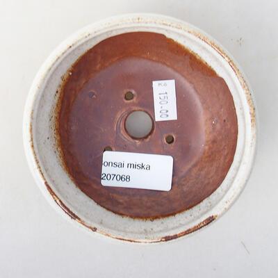 Keramická bonsai miska 11 x 11 x 4,5 cm, barva bílá - 3