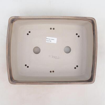 Bonsai miska 30 x 22 x 8 cm, barva šedobéžová - 3