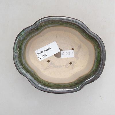 Keramická bonsai miska 13 x 11 x 5,5 cm, barva zelená - 3