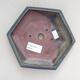Keramická bonsai miska 16 x 14 x 3,5 cm, barva modrá - 3/3
