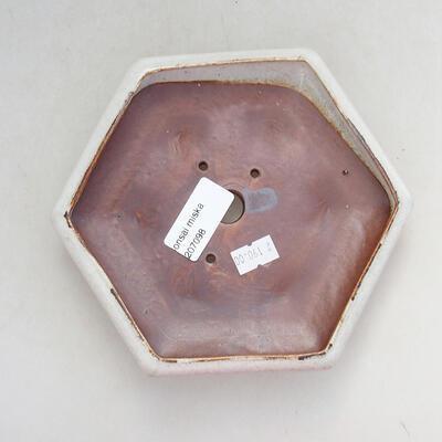 Keramická bonsai miska 16 x 14 x 3,5 cm, barva bílá - 3