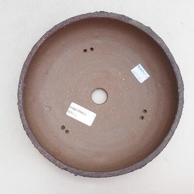 Keramická bonsai miska 20 x 20 x 6 cm, barva praskaná - 3