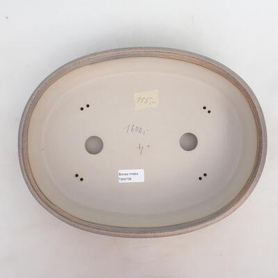 Bonsai miska 34 x 26 x 7,5 cm, barva šedobéžová - 3