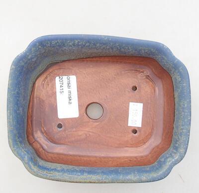 Keramická bonsai miska 15 x 12 x 4,5 cm, farba modrá - 3