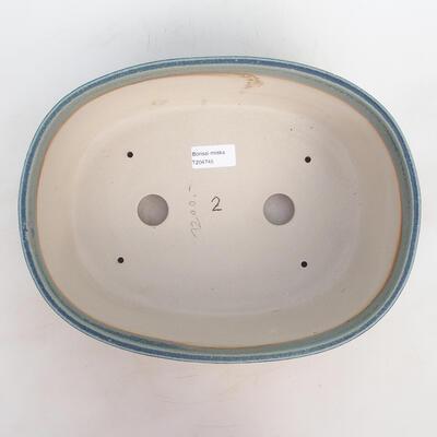 Bonsai miska 30 x 23 x 10 cm, barva modrozelená - 3