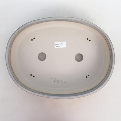 Bonsai miska 33 x 25 x 7,5 cm, barva šedobéžová - 3