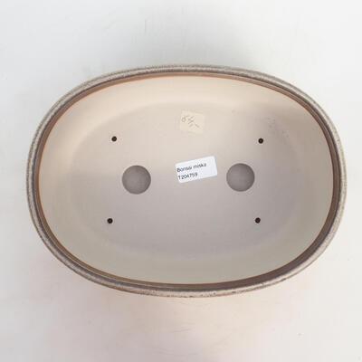 Bonsai miska 27 x 20 x 9 cm, barva šedobéžová - 3
