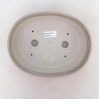 Bonsai miska 24 x 19 x 7 cm, barva šedobéžová - 3