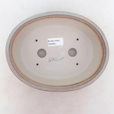 Bonsai miska 22,5 x 17,5 x 7 cm, barva šedobéžová - 3