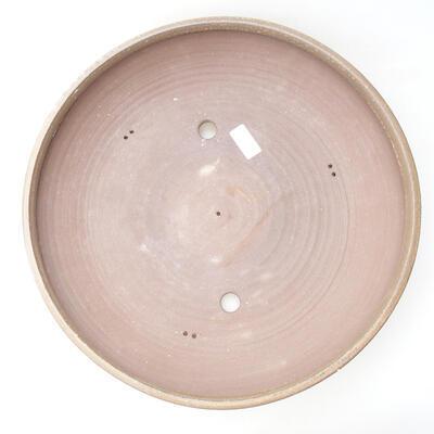 Keramická bonsai miska 40 x 40 x 8,5 cm, barva hnědá - 3