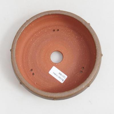 Keramická bonsai miska 18 x 18 x 5,5 cm, barva hnědá - 3