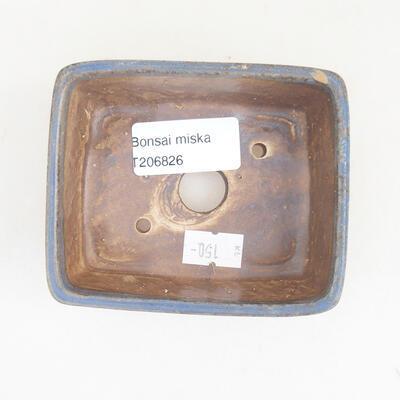 Keramická bonsai miska 9,5 x 8 x 3,5 cm, farba modrá - 3