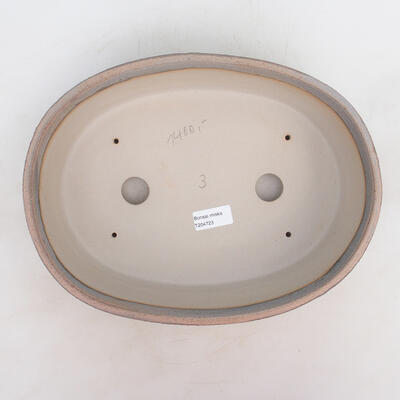 Bonsai miska 32 x 24 x 8,5 cm, barva šedobéžová - 3