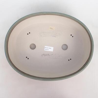 Bonsai miska 34 x 27 x 10,5 cm, barva modrozelená - 3